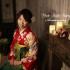 ❁成人式前撮り 赤 扇面に牡丹と菊古典柄❁