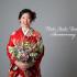 ❁成人式前撮り 赤 市松に矢羽と麻の葉❁
