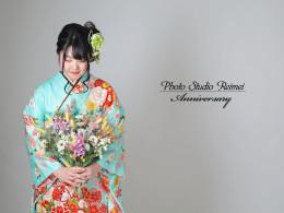 成人振り袖撮影~❁古典柄 水色 桜花