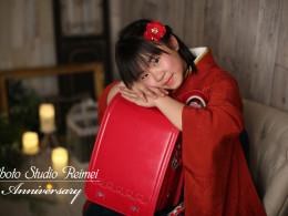 🌸小学校卒業撮影 赤 緑の袴🌸