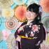 成人式前撮り~茶紫✨ラメ入り赤い牡丹と毬柄~