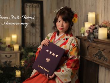 卒業袴撮影 ~生花髪飾りと共に~