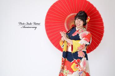 ❁成人式前撮り 万寿菊と梅 レトロ❁