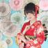 ✨成人式前撮り~白染め分け桜、菊、牡丹のし目柄~✨
