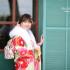 ❁成人式前撮り ロケ 矢絣に椿 レトロモダン❁