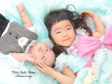 七五三&お宮参り撮影!!本日もかわいい女の子と男の子のお写真です(*^^*)