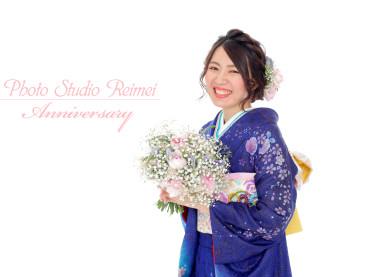 成人前撮り生花リーズナブルプラン ~カスミソウブーケ~