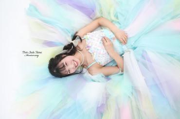 成人前撮り撮影✧フェミニン 緑系 牡丹・薔薇 桂由美