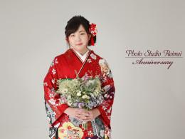成人前撮り ~ネオクラシック  赤系  古典桜、梅可憐な花々~