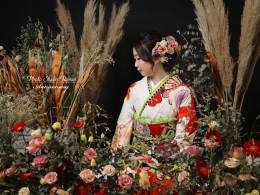 ❁成人式前撮り 生花プラン ドレス撮影❁