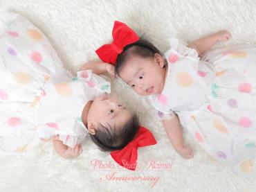お宮詣り撮影 💕双子女の子💕