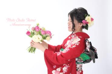 成人前撮り 生花プラン スプリングブーケ