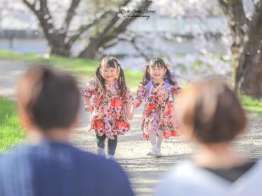 満開の桜の下で、素敵な笑顔をみつけました(*^^*)